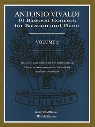 Antonio Vivaldi  Sheet Music 10 Bassoon Concerti, Vol. 2 Song Lyrics Guitar Tabs Piano Music Notes Songbook