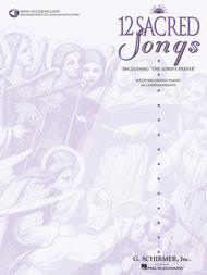 Various  Sheet Music 12 Sacred Songs - Low Voice Song Lyrics Guitar Tabs Piano Music Notes Songbook