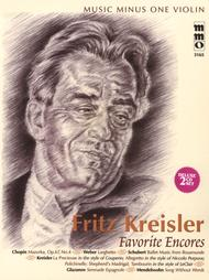 Music Minus One Violin  By Fritz Kreisler  Fritz Kreisler - Favorite Encores