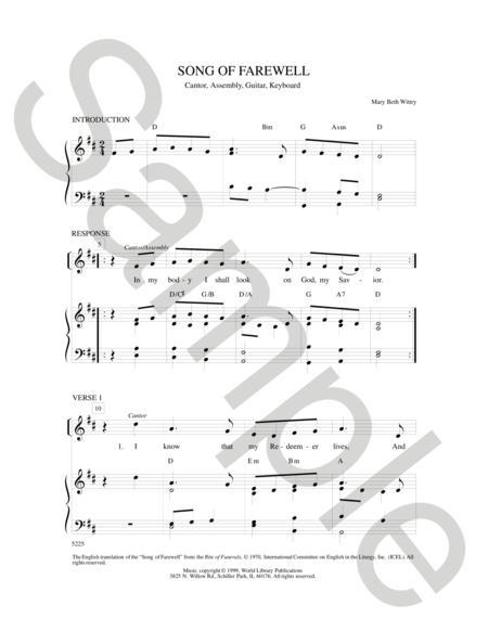 Sheet music: Song of Farewell