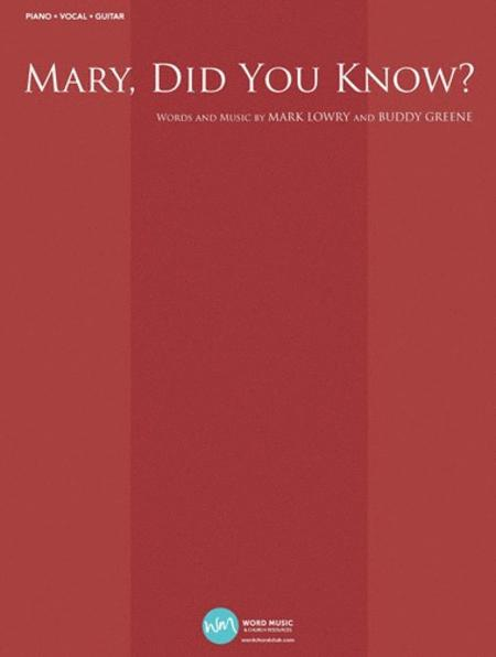 Mary, Did You Know? Sheet Music By Mark Lowry - Sheet Music Plus