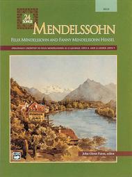 Mendelssohn -- 24 Songs sheet music
