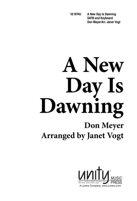 Sheet music: A New Day is Dawning (Choral SATB)