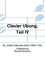 Clavier Ubung, Teil IV sheet music