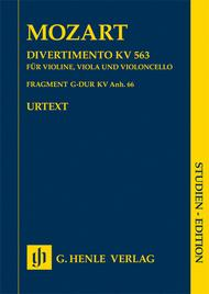 Divertimento In E Flat Major K. 563 For Violin, Viola And Violoncello And Fragfment K. Anh. 66