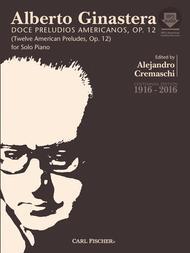 Alberto Ginastera  Sheet Music 12 American Preludes -'Doce Preludios Americanos' Song Lyrics Guitar Tabs Piano Music Notes Songbook
