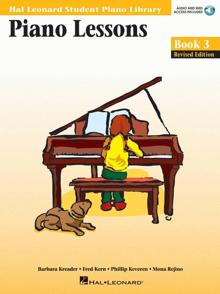 Sheet music: Piano Lessons Book 3 - Book/Online Audio (Piano