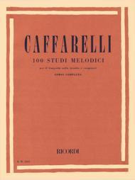 Reginaldo Caffarelli  Sheet Music 100 Studi Melodici (Melodic Studies) Song Lyrics Guitar Tabs Piano Music Notes Songbook