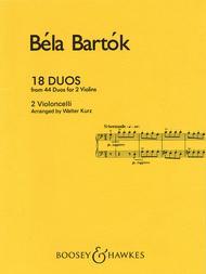 Bela Bartok  Sheet Music 18 Duos Song Lyrics Guitar Tabs Piano Music Notes Songbook