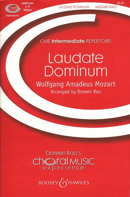 Sheet music: Laudate Dominum (2-part)