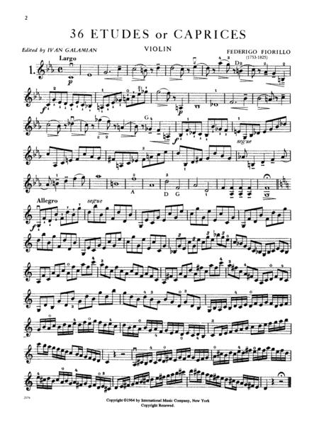 36 Etudes or Caprices (GALAMIAN) sheet music