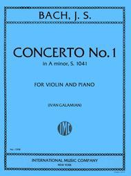 Concerto No. 1 in A minor, BWV 1041