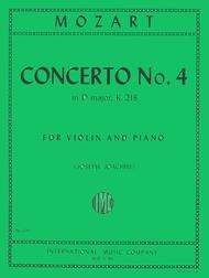 Concerto No. 4 in D major, K. 218 (with Cadenzas by Joseph Joachim)