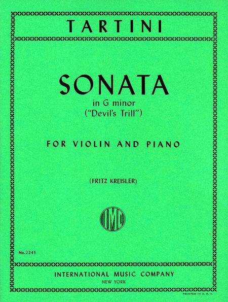 Sheet music: Sonata in G minor 'Devil's Trill' (KREISLER