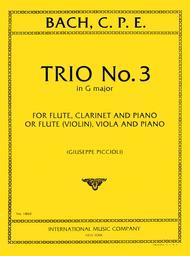 Trio No. 3 in G major for Flute, Clarinet and Piano or Flute (Violin), Viola and Piano