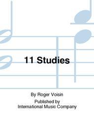 Roger Voisin  Sheet Music 11 Studies Song Lyrics Guitar Tabs Piano Music Notes Songbook