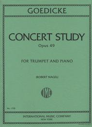 Concert Study, Op. 49 (Trumpet in C) sheet music