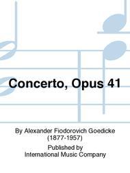 Concerto, Opus 41 sheet music