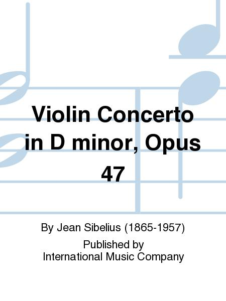 Sheet Music Violin Concerto In D Minor Op 47