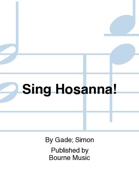 Sheet Music Sing Hosanna Satb Piano