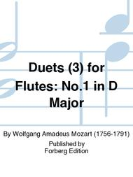Duets (3) for Flutes: No. 1 in D Major sheet music