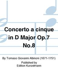 Concerto a cinque in D Major Op. 7 No. 8 sheet music
