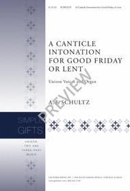 A Canticle Intonation for Good Friday or Lent sheet music