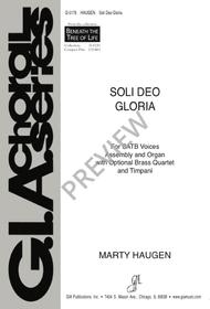 Soli Deo Gloria sheet music