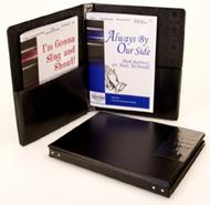 Folder - Concert Black 9 1/4 X 12 Stays Pockets sheet music