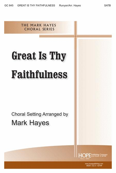 great is thy faithfulness satb pdf