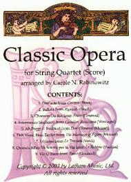 Classic Opera for String Quartet sheet music