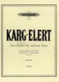 Sigfrid Karg-Elert  Sheet Music 14 Interludes or Postludes in various keys Song Lyrics Guitar Tabs Piano Music Notes Songbook