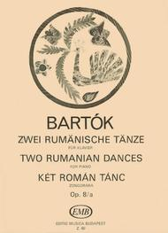 Bela Bartok  Sheet Music 2 Rumanian Dances, Op. 8a Song Lyrics Guitar Tabs Piano Music Notes Songbook