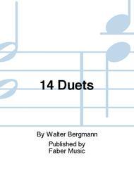 Walter Bergmann  Sheet Music 14 Duets Song Lyrics Guitar Tabs Piano Music Notes Songbook