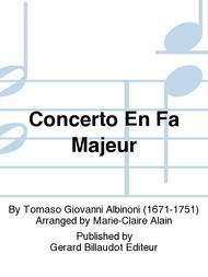 Concerto en Fa Majeur sheet music