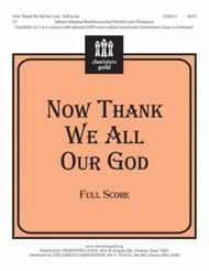 Now Thank We All Our God - Full Score