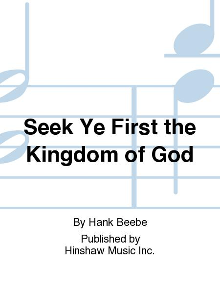 Seek Ye First The Kingdom Of God Sheet Music Sheet Music Plus