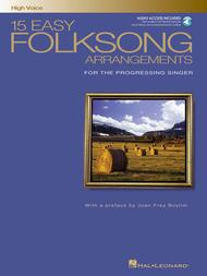 Various  Sheet Music 15 Easy Folksong Arrangements Song Lyrics Guitar Tabs Piano Music Notes Songbook