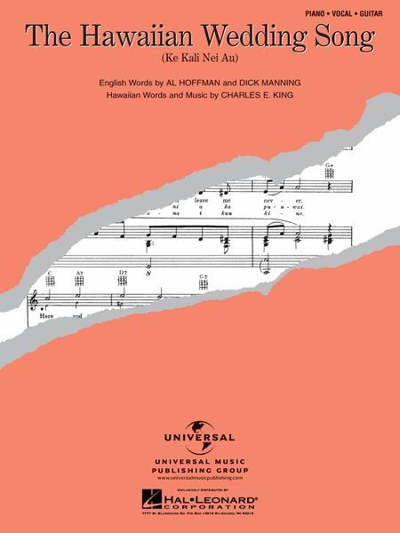 Sheet Music Hawaiian Wedding Song Guitar Pianokeyboard Vocal