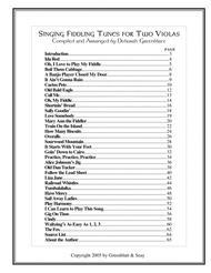 Singing Fiddling Tunes for Two Violas sheet music
