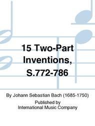 Johann Sebastian Bach  Sheet Music 15 Two-Part Inventions, S.772-786 Song Lyrics Guitar Tabs Piano Music Notes Songbook