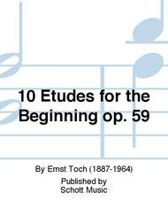 Ernst Toch  Sheet Music 10 Etudes for the Beginning op. 59 Song Lyrics Guitar Tabs Piano Music Notes Songbook