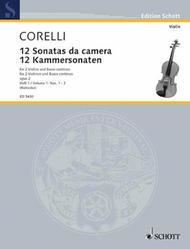 Arcangelo Corelli  Sheet Music 12 Trio Sonatas Op. 2, Nos. 1-3 Song Lyrics Guitar Tabs Piano Music Notes Songbook