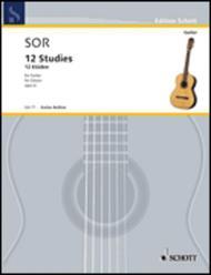 Fernando Sor  Sheet Music 12 Studies, Op. 6 Song Lyrics Guitar Tabs Piano Music Notes Songbook