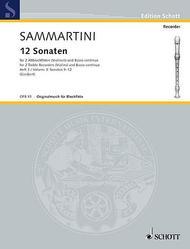 Giuseppe Sammartini  Sheet Music 12 Sonatas, Volume 3 Song Lyrics Guitar Tabs Piano Music Notes Songbook