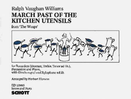 Sheet Music March Past Of The Kitchen Utensils Recorder