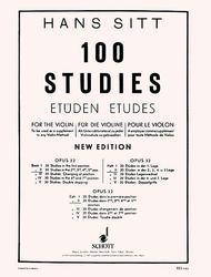 Hans Sitt  Sheet Music 100 Studies, Op. 32 - Book 2 Song Lyrics Guitar Tabs Piano Music Notes Songbook