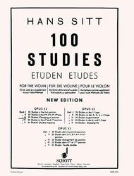Hans Sitt  Sheet Music 100 Studies, Op. 32 - Book 3 Song Lyrics Guitar Tabs Piano Music Notes Songbook