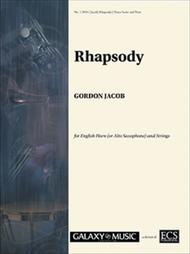 Rhapsody for English Horn & Strings (Piano Score) sheet music