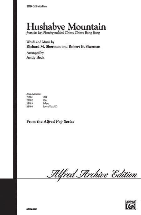 Hushabye Mountain Sheet Music By Richard M Sherman Sheet Music Plus